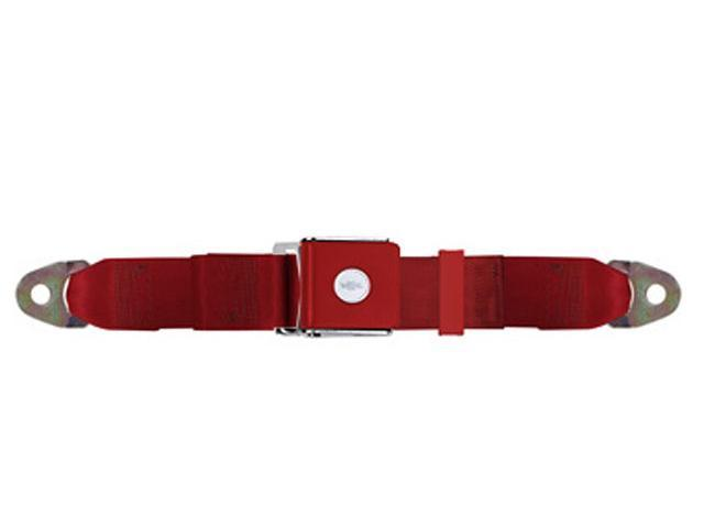 Universal Lap Seat Belt, Chevy Bow Tie 74 Inch, Red