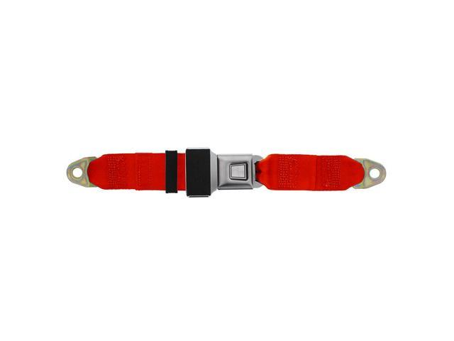Universal Lap Seatbelt, Metal Button 90 Inch, Flame Red