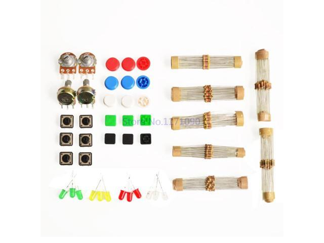 1 sets Handy Portable Resistor Kit forArduino Starter Kit UNO R3 LED potentiometer tact switch pin header