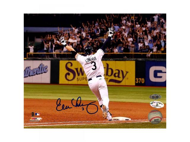 Evan Longoria Signed Playoff Clincher Walk-Off 8x10 Photo