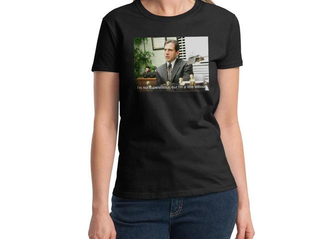 The Office Stitious Women's Black T-shirt