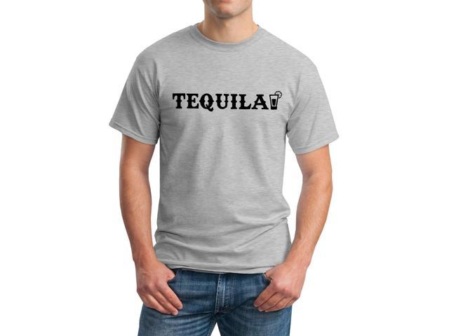 Tequila Graphic Tee Men's Grey T-shirt