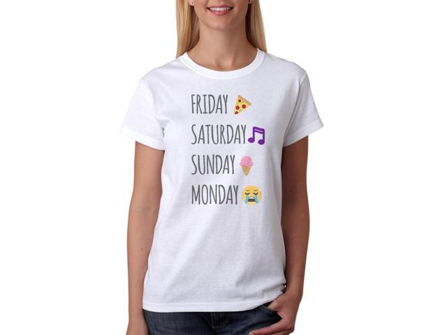 Perfect Weekend Emoji Images Women's White T-shirt