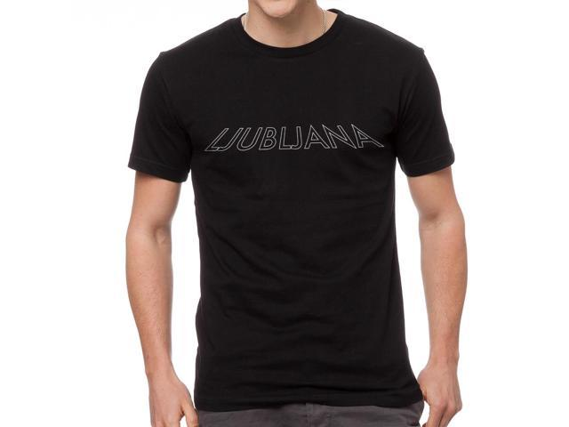 Ljubljana City Men's Black T-shirt