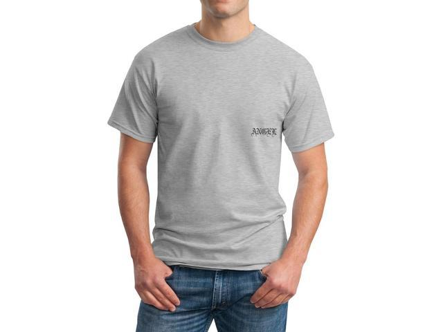 Angel Your Olde Enlglish Name Men's Grey T-shirt
