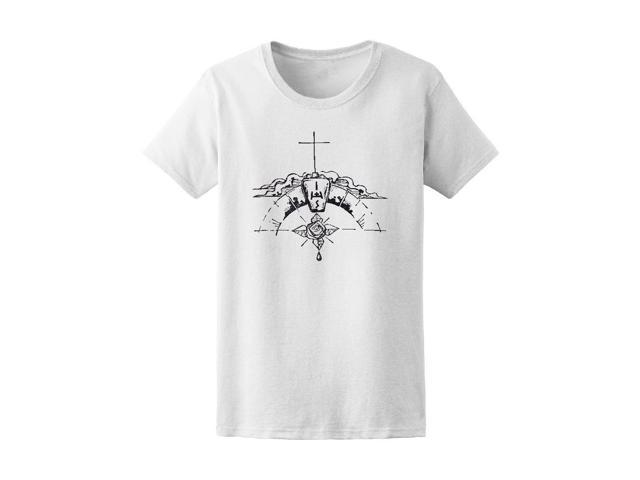Christian Religious Symbols Tee Womens Image By Shutterstock