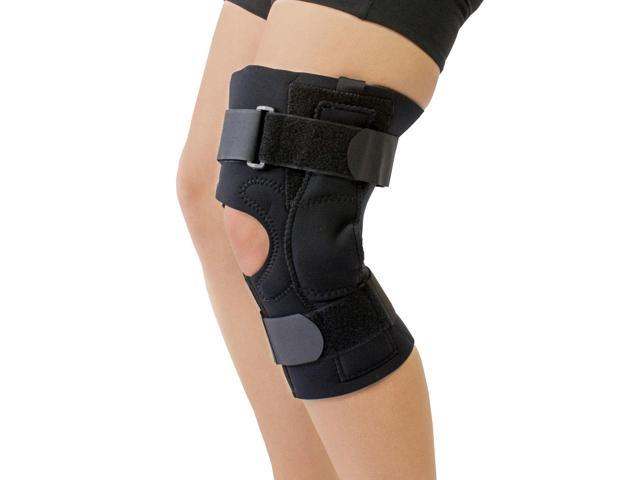 Obesity Neoprene Knee Brace for Large Thighs Knee Joint Pain Recovery Extension Control (Small)