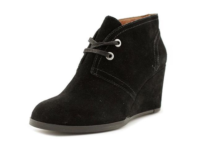 Seleste Women Round Toe Suede Black Ankle Boot