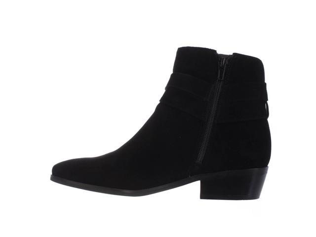 GUESS Womens Camrin Suede Closed Toe Ankle Fashion Boots Black Suede Size 6.0