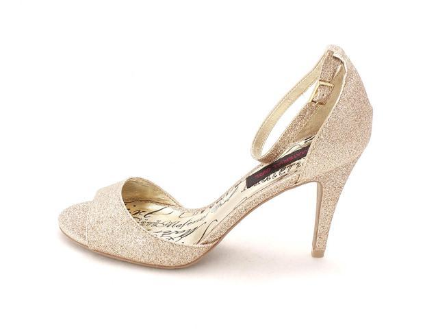 Material Girl Womens Inwood Open Toe Special Occasion Espadrille Gold Size 85