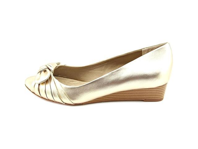 Giani Bernini Womens Singa Peep Toe 5.0 Wedge Pumps Oro Size 5.0 Toe 1d4c55