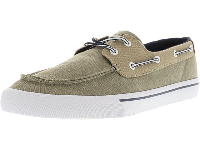 Mens Pharis Fabric Closed Toe Boat Shoes Light Natural Size 7.0