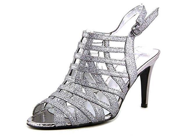 Marc Fisher Nalora 2 Open Toe Synthetic Sandals Pewter Size 7.5