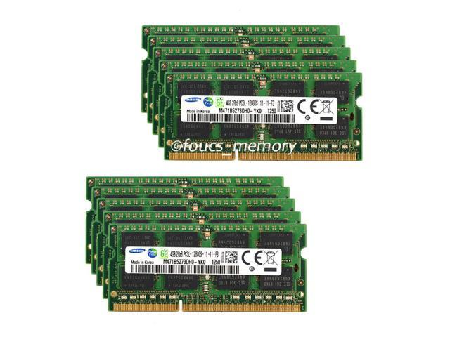 Samsung 10PCS 4GB PC3L-12800 DDR3 1600mhz DDR3L 204pin 16Chips Laptop Memory