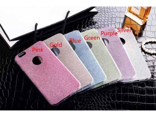 Fashion Colorful Shining Glitter Powder Shockproof Soft TPU Back Case Cover for iPhone 5 5S SE 6 6S 6 Plus 6S Plus 7 7 Plus