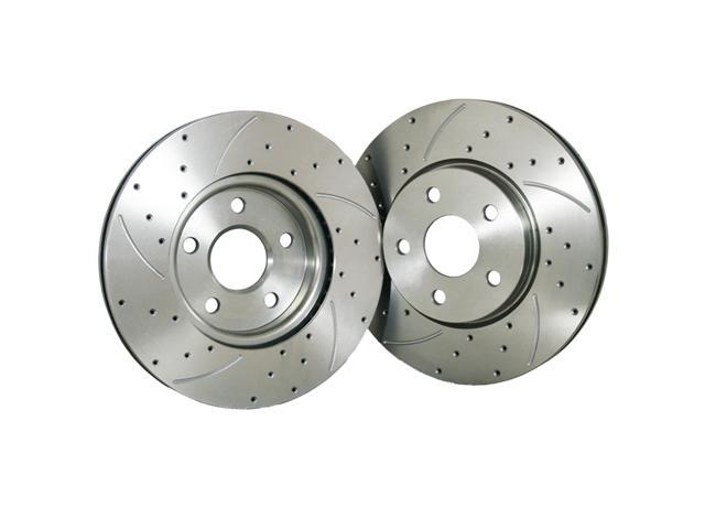 Rear FLPX Performance 282mm Drilled Slotted Brake Rotor 31304 fit Honda CR-V 02-04