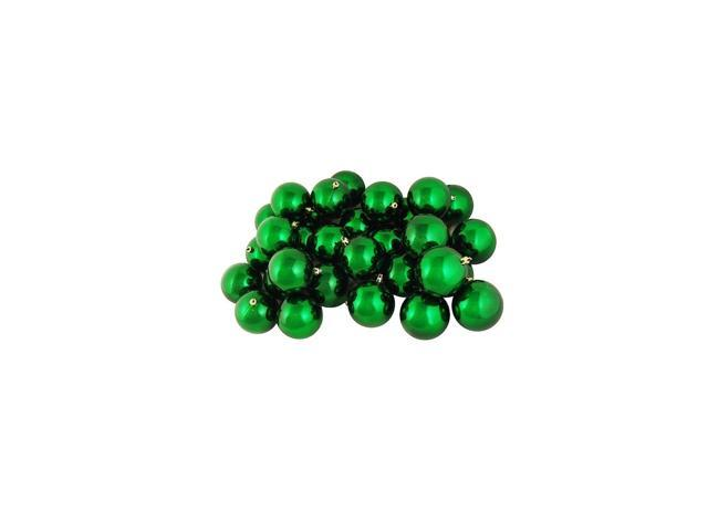 60ct Shiny Xmas Green Shatterproof Christmas Ball Ornaments 2.5
