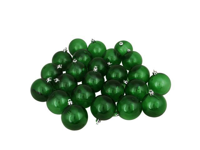 60ct Xmas Green Transparent Shatterproof Christmas Ball Ornaments 2.5