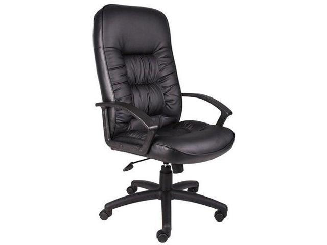 Burke High Back Executive Chair in Bonded Leather Black Bonded Leather/Black Frame