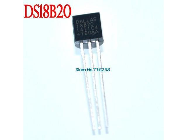 SuperiParts 5pcs DALLAS DS18B20 18B20 18S20 TO-92 IC CHIP Thermometer Temperature Sensor&