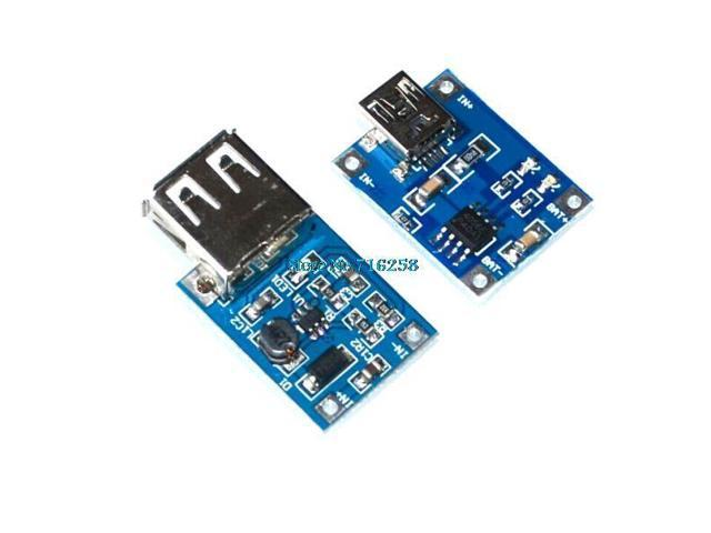 SuperiParts 0.9V~5V 600MA USB Output charger Mini DC-DC Boost Converter + TP4056 1A Lipo Battery Charger Module lithium battery DIY Mini USB