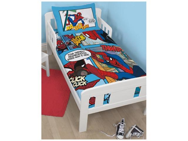 Spiderman Thwip 2 Piece UK Junior/US Toddler Sheet Set 1 x Double Sided Sheet & 1 x Pillowcase