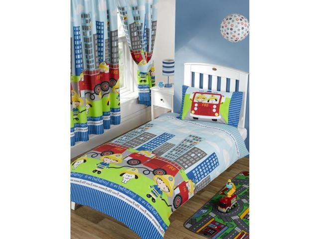 Nee Naa Fire Engine 2 Piece UK Junior/US Toddler Sheet Set 1 x Double Sided Sheet & 1 x Pillowcase