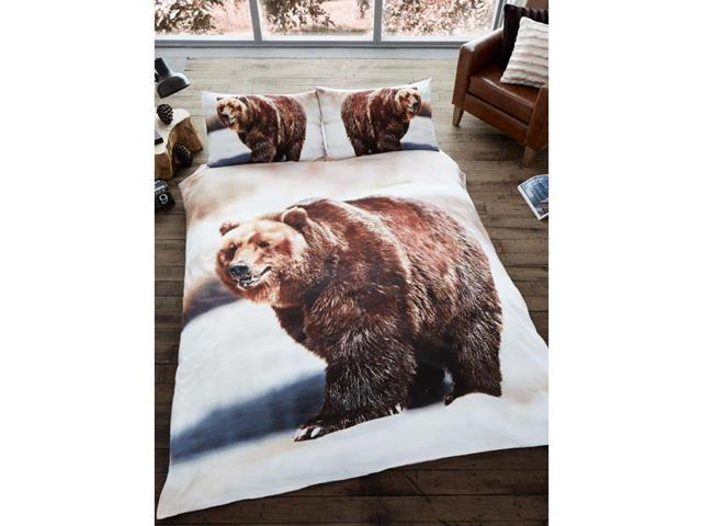 3D Bear 2 Piece UK Double /US Full Sheet Set – 1 x Double Sided Sheet & 2 x Pillowcases