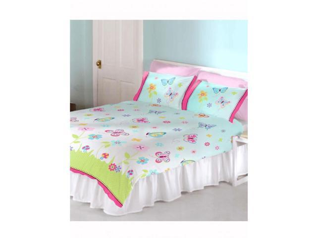 Butterfly Garden 2 Piece UK Double /US Full Sheet Set – 1 x Double Sided Sheet & 2 x Pillowcases