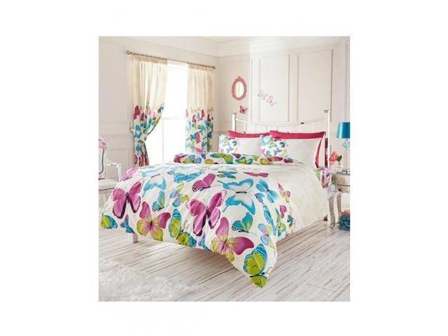 Fashion Butterfly 2 Piece UK Double /US Full Sheet Set – 1 x Double Sided Sheet & 2 x Pillowcases