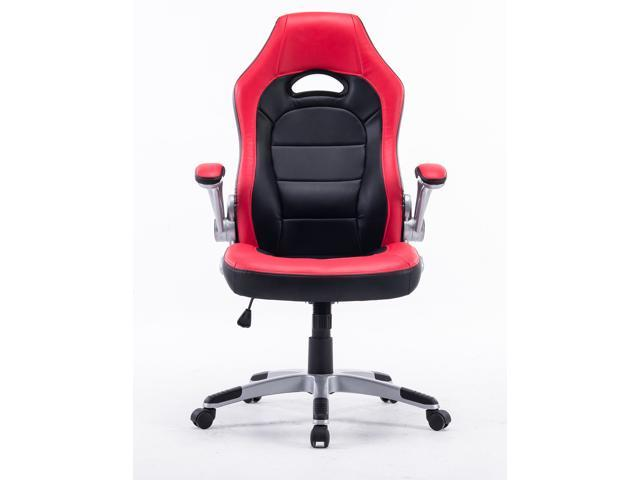 Executive Swivel Gaming Racing Leather High Back Computer Pc Office Chair Manager Red With