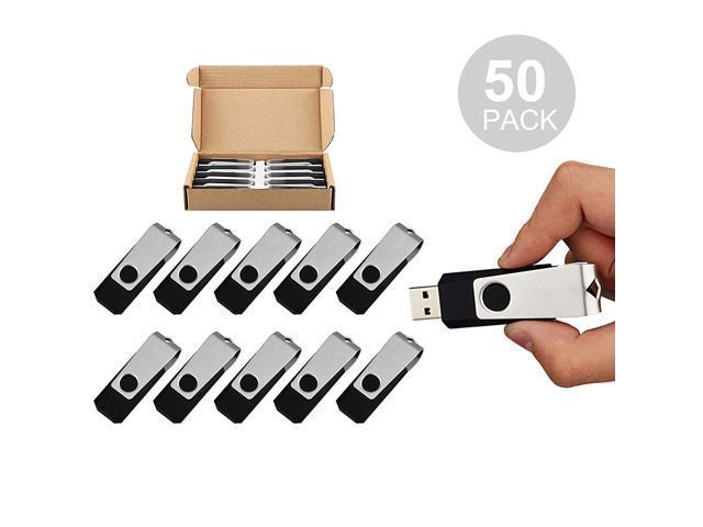 50PCS 1GB USB 2.0 Flash Drive Bulk Pack Swivel Memory Stick Thumb Drives  Pen Drive (