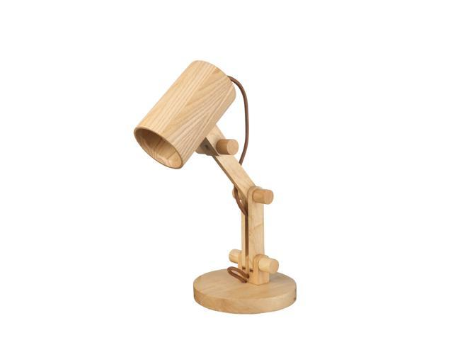 Starthi swing arm desk lamp natural wood table lamp