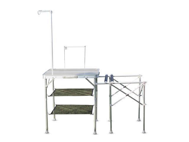 Camping Kitchen Tables Kinbor folding camping kitchen table portable outdoor cooking food kinbor folding camping kitchen table portable outdoor cooking food prep table silver workwithnaturefo