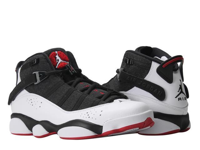 timeless design 02fce 19e4b ... nike air jordan 6 rings black white gym red mens basketball shoes 322992