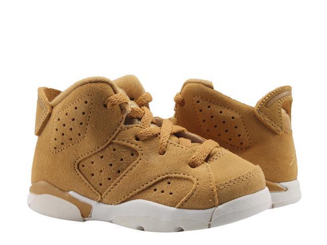 Nike Air Jordan 6 Retro BT Golden Harvest Wheat Toddler Kids Shoes  384667-705 Size