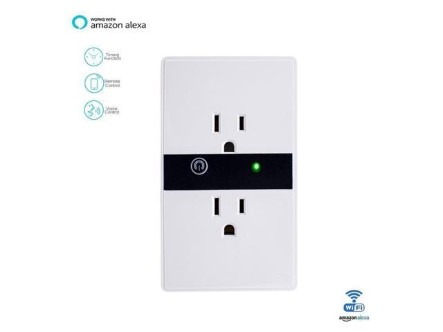 Smart WIFI Wall Outlet Plug Duplex Receptacle Switch Wireless In ...