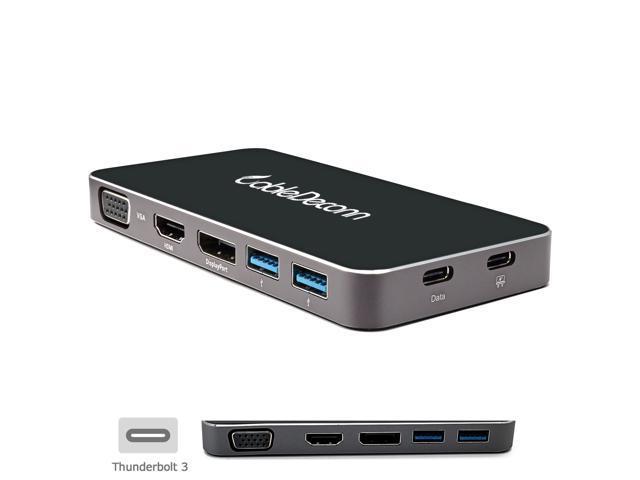 Cabledeconn Thunderbolt 3 Multi Port Hub Usb C To Hdmi Vga
