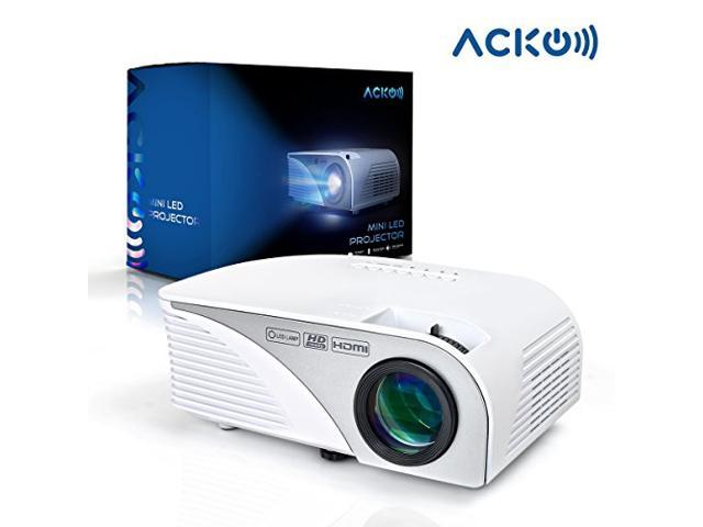 Acko Portable Mini HD LED Video Projector Office Home Theater 1200 ...