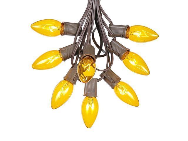 C9 Yellow Christmas String Light Set Outdoor Christmas Light