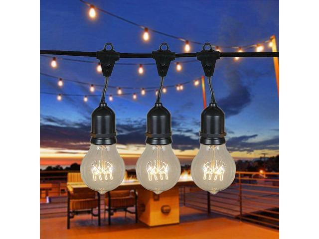 48 foot a19 edison outdoor string lights suspended commercial 48 foot a19 edison outdoor string lights suspended commercial grade string lights backyard workwithnaturefo