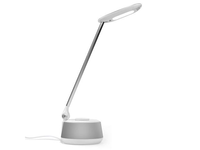 August lec630 led bluetooth speaker desk lamp with usb white