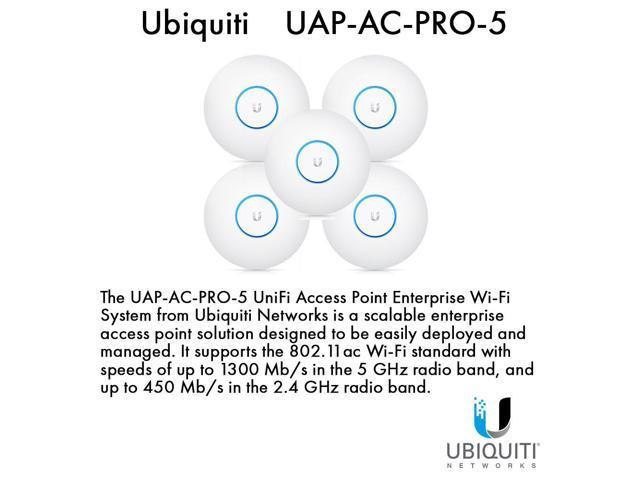 Ubiquiti NetworksUAP-AC-PRO-5 UniFi Access Point Enterprise Wi-Fi System(5-Pack)