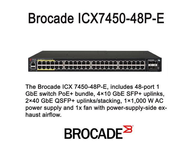 Brocade ICX7450-48P-E Managed Switch