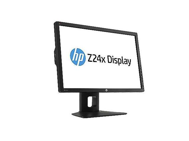 "HP Black 24"" 12ms LED Backlight LCD Monitor Built-in Speakers"