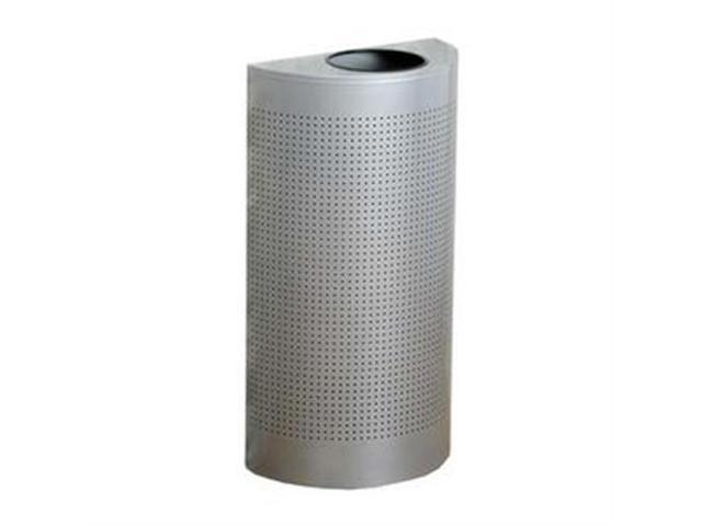 United Receptacle Open Top Half Round Waste Can