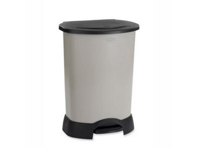 """Rubbermaid Step-on Container30 gal Capacity - 34.2"""" Height x 24.2"""" Width x 19.7"""" Depth - Plastic - Platinum"""