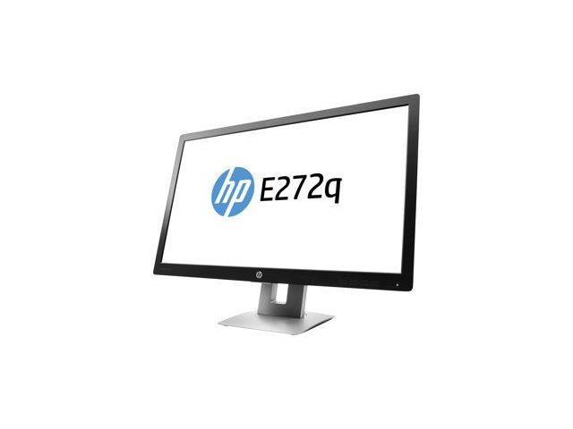 "HP E272q 27"" Black Professional Quad HD IPS Monitor 2560x1440 with 7ms Response Time and 60Hz Refresh rate, 16:9, Tilt/Swivel Adjustment, VGA, HDMI, DisplayPort, 3 USB 2.0"