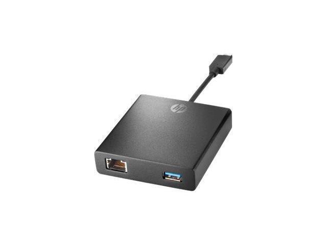 HP - Network adapter - USB Type-C - USB-C + Gigabit Ethernet x 1 + USB 3.0 - Smart Buy - for Elite x2 1012 G1