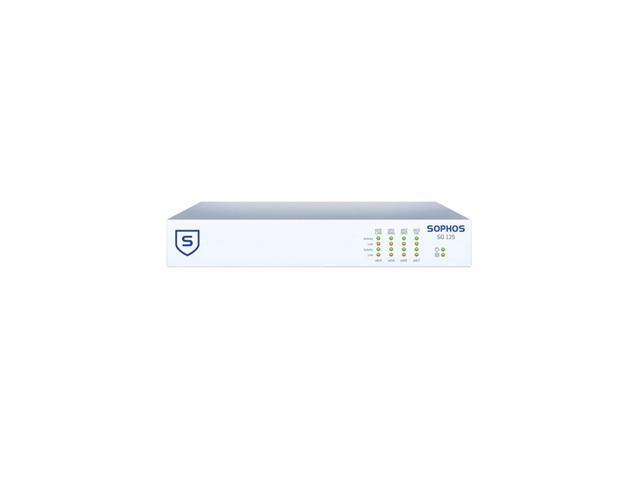 Sophos SG 125 / SG125 Firewall Security Appliance with 8 GE ports, HDD + Base License for Unlimited Users (Appliance Only)